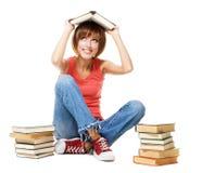 książek śmieszny dziewczyny udziału uczeń Zdjęcie Royalty Free