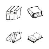 Książek doodles ustawiający ilustracji