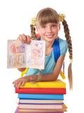 książek dziecka stos fotografia royalty free
