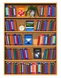 książek półka na książki koloru udział drewniany royalty ilustracja