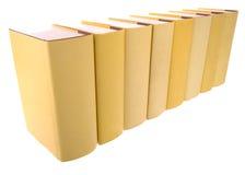 książek rzędu kolor żółty Obrazy Royalty Free