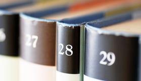 książek rzędu pojemność zdjęcia stock