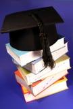 książek skalowania kapeluszowa sterta Obrazy Royalty Free