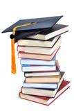 Książka absolwenta nakrętka Zdjęcie Stock