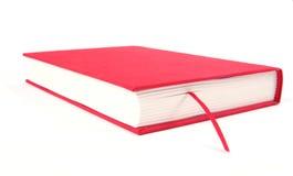 książka czerwony białe tło Obrazy Stock