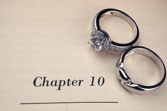 książka dzwoni ślub obraz stock