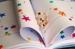 książka dzwoni ślub Obrazy Royalty Free