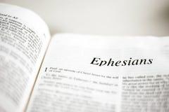 Książka Ephesians Zdjęcia Royalty Free