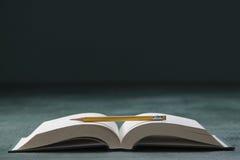 Książka i ołówek Obrazy Stock
