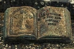 Książka jako grób kamień Obrazy Stock