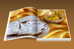 Książka Karnawałowi i Wielkanocni cukierki zdjęcia stock