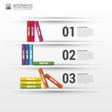 Książka kroka edukaci biznesowy infographics również zwrócić corel ilustracji wektora Obraz Stock