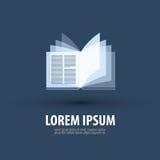 Książka Logo, ikona, symbol, szablon, emblemat Obrazy Stock