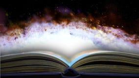 Książka mówi o sekretach wszechświat 28 ilustracja wektor