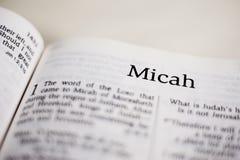 Książka Micah obrazy stock