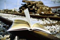 Książka na torach szynowych Fotografia Stock