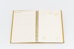 książka odizolowywająca notatka Obrazy Stock