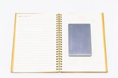 książka odizolowywająca notatka Obraz Stock