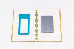 książka odizolowywająca notatka Fotografia Stock