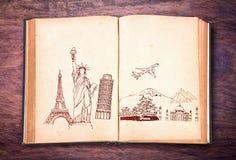 Książka podróż zdjęcie stock