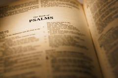 Książka psalmy obraz stock