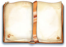 książka puste ilustracyjni rozporządzeń Zdjęcia Stock