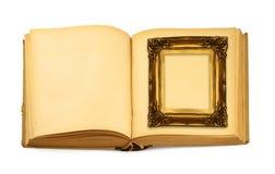 książka ramowy leżącego otwarte Zdjęcie Royalty Free