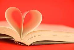 książka serce Zdjęcie Stock