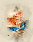 książka serii sterta występować samodzielnie Obrazy Stock