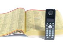 książka telefoniczna telefon Fotografia Royalty Free