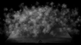 Książka w mgle Tajemniczy dym odkrywał książkę Zdjęcia Stock