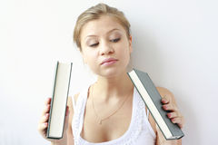 książka wybiera dziewczyny nastoletniej chcieć Zdjęcie Royalty Free
