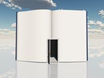 Książka z otwarte drzwi ilustracja wektor