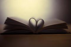 Książka z sercem Obraz Royalty Free