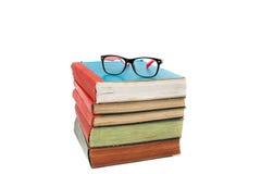Książka z szkłami zdjęcie stock
