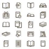 Książka znaków czerni ikony Cienki Kreskowy set wektor Zdjęcia Stock