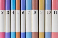 książki coloured serie Obrazy Royalty Free
