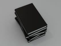 Książki czerń na szarej skórze Zdjęcie Royalty Free