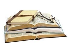 książki cztery szkła Zdjęcia Royalty Free