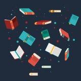 Książki czytać bibliotecznego projekt ilustracja wektor