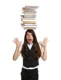 książki dziewczyny głowy kołek połowów Zdjęcie Royalty Free