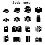 Książki & edukacji ikony set ilustracji