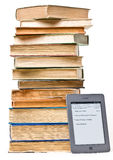 książki ereader rozognia następną stertę target1379_0_ obraz stock
