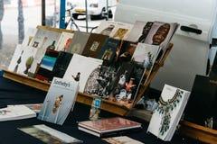 Książki i antyków rynek opóźnia w ulicie Haga Obraz Stock