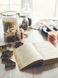 Książki kucharska i kuchni szczegóły Zdjęcie Stock