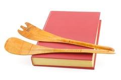 książki kucharskie naczynia kuchenne Obrazy Stock