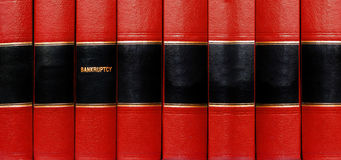 Książki na Bankructwie Zdjęcia Royalty Free