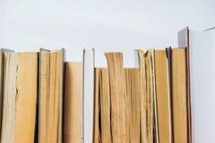 książki na odizolować stack white Obraz Royalty Free