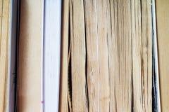 książki na odizolować stack white Fotografia Stock