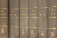 Książki na szelfowy makro- Zdjęcie Royalty Free